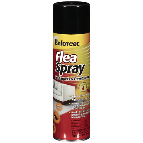 Enforcer XX Flea Spray For Carpets & Furniture, 14 oz