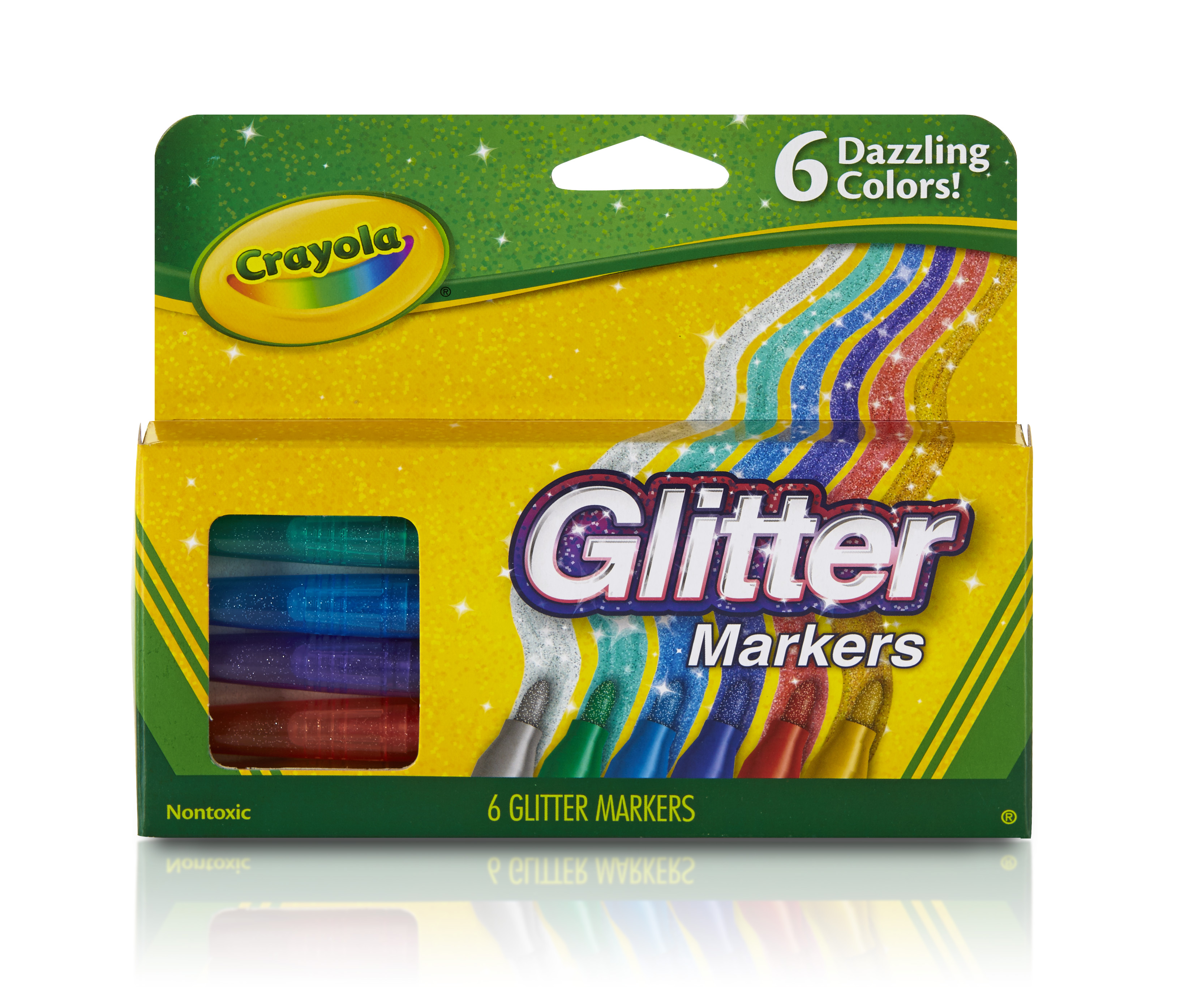 Crayola Glitter Markers, 6-count by Crayola