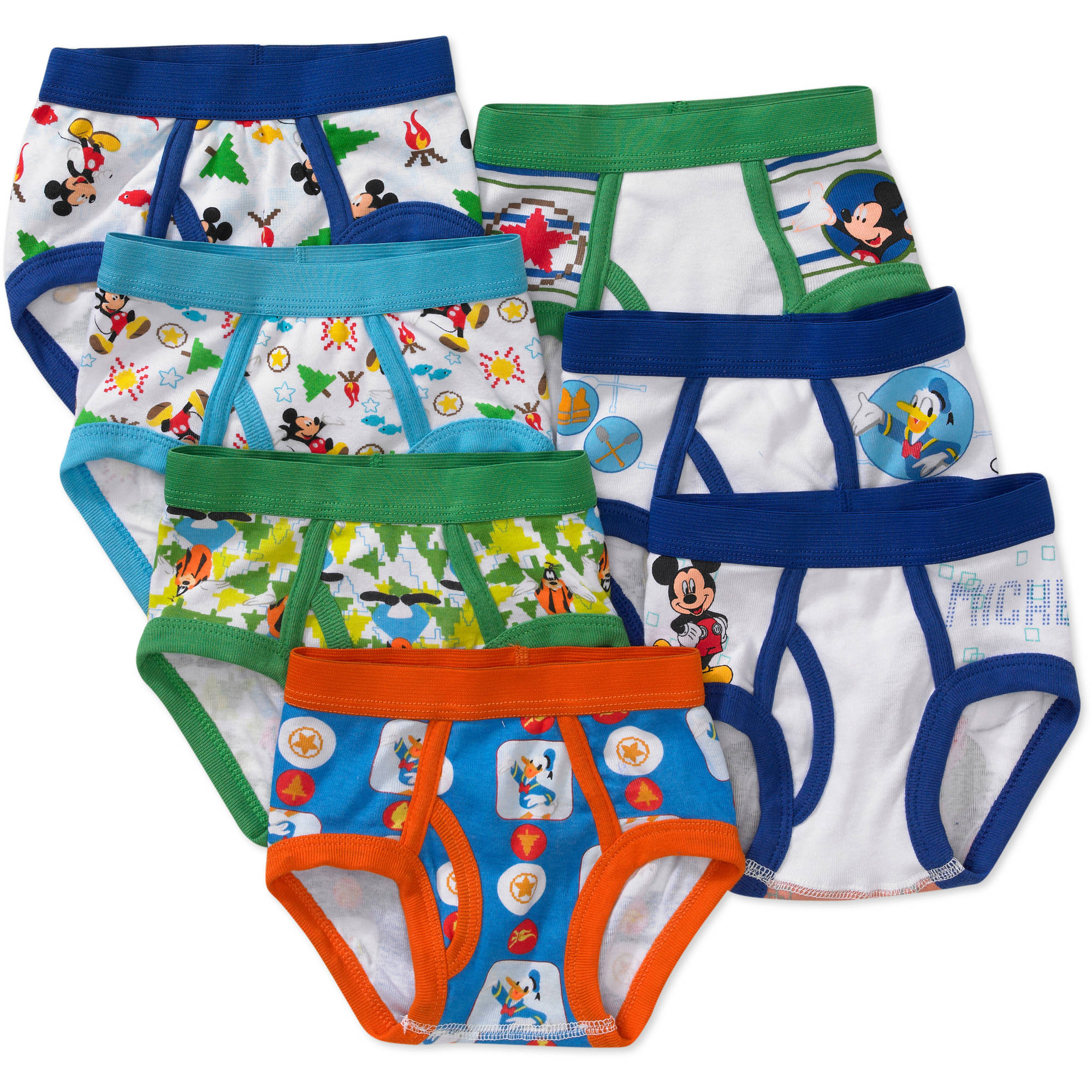 Disney Toddler Boys' Mickey Mouse Underwear, 7-Pack