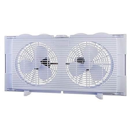 High Velocity 2 In 1 Twin Window Energy Efficient Fan Horizontal Vertical Fit Quiet Operation Overload Protection Fuse Easy To Install