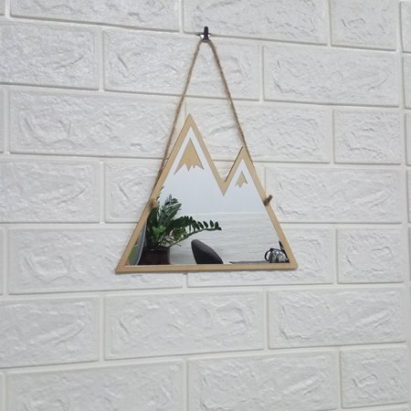Electronicheart DIY Wooden Acrylic Hanging Mirror Mountain Shape Decorative Mirror Home Children Room Decoration - image 8 of 8