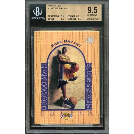 1996 97 Ud3  19 Kobe Bryant Los Angeles Lakers Rookie Bgs 9 5  9 5 9 9 5 9 5