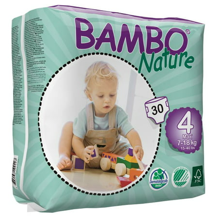 Organic Pocket Diapers - Bambo Nature Baby Diapers Classic (Choose Size and Count)