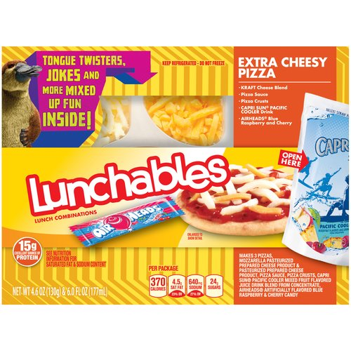 Lunchables Extra Cheesy Pizza Lunch Combination, 4.6 oz