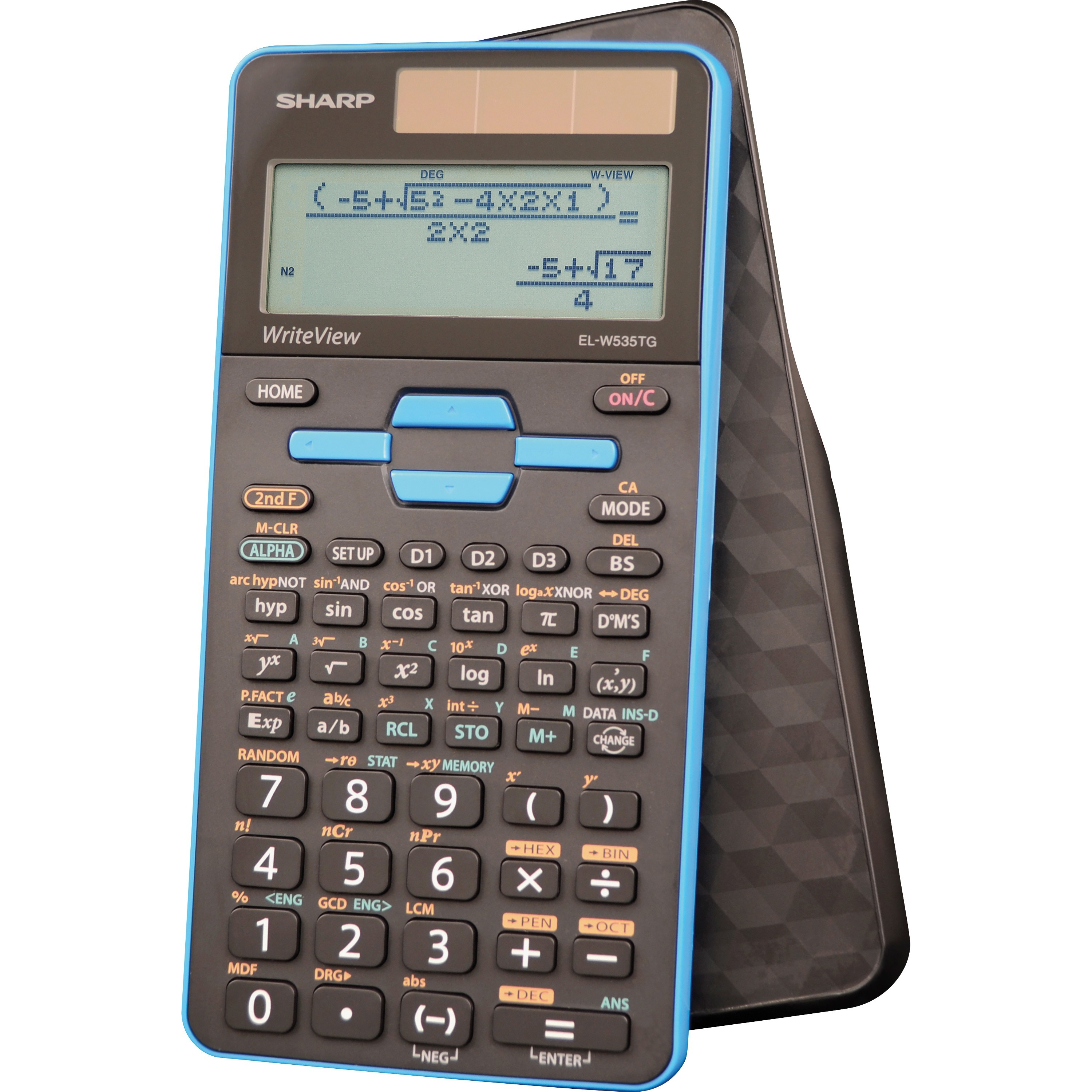 Sharp Calculators, SHRELW535TGBBL, EL-W535TGBBL Scientific Calculator, 1 Each, Black,Blue