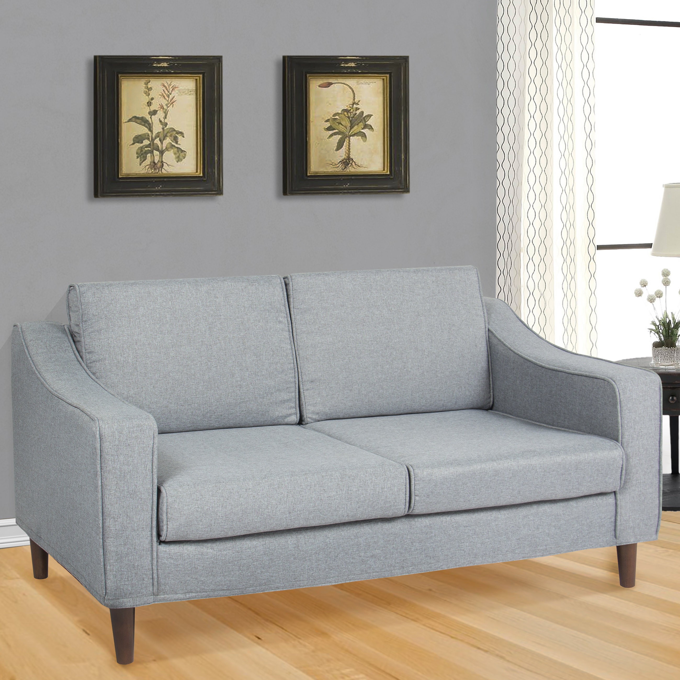 Best choice products modern furniture loveseat sofa living room couch chaise lounge chair gray walmart com