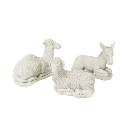 Set of 3 Winter Solace Donkey, Camel & Sheep Nativity Animal Christmas Statuary (Nativity Animals)