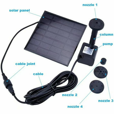 180L/H Solar Water Pump for Garden Pool Pond Fountain Aquarium - image 3 of 9