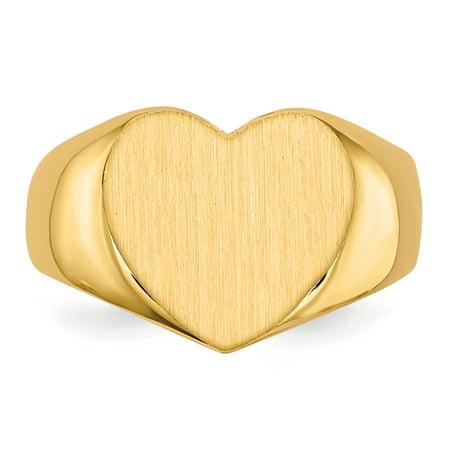 14K Yellow Gold Signet Ring - image 3 de 5