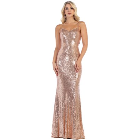 5acb0971aaf May Queen - SEQUINED PROM LONG DESIGNER DRESS - Walmart.com