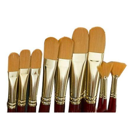 Grumbacher - Golden Edge Acrylic Brush - Fan - 2 (Gold Fangs)