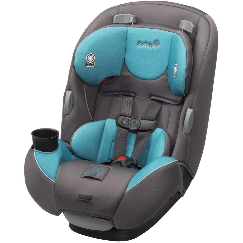 Safety 1st Continuum 3 in 1 Baby to Toddler Convertible Car Seat, Sea Glass