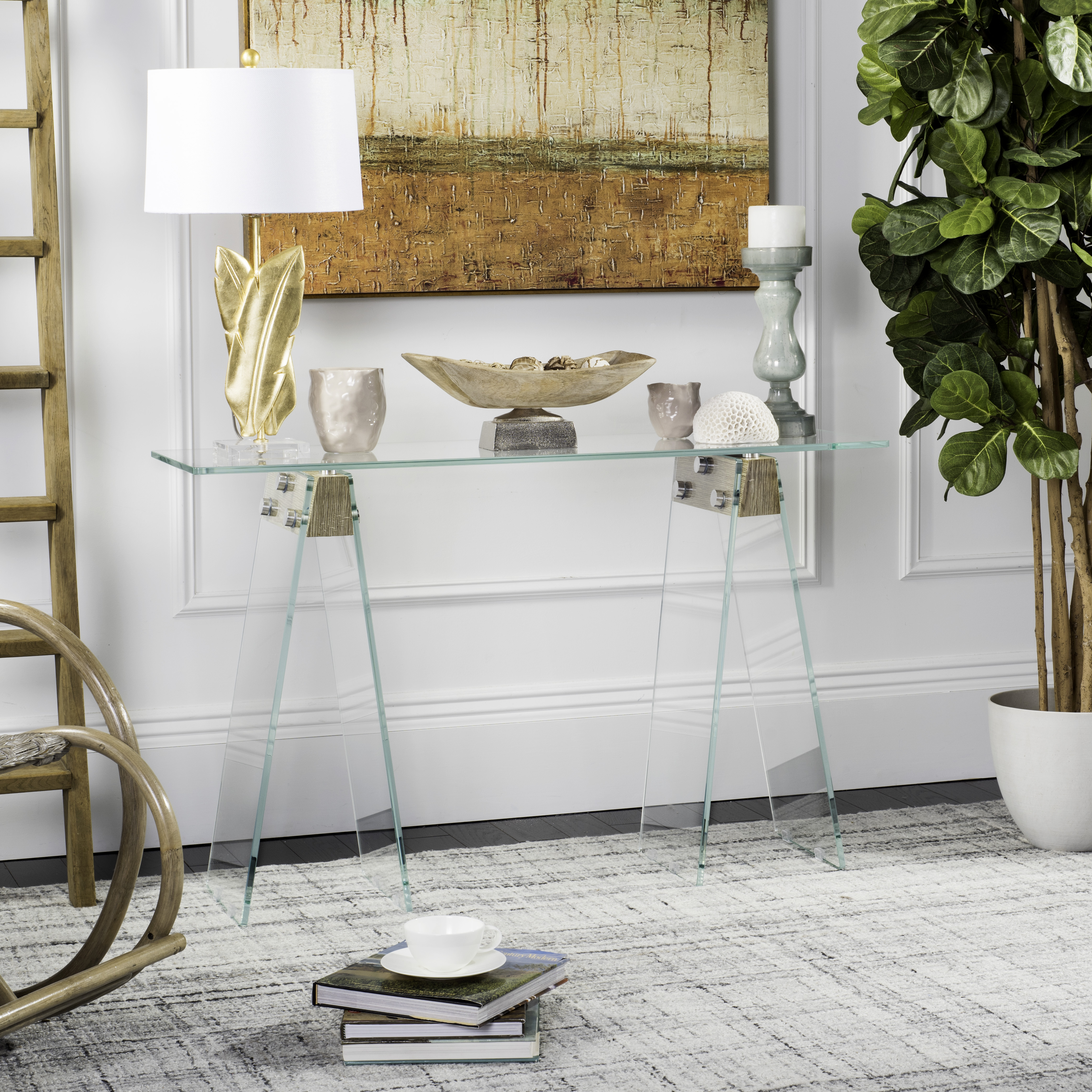 Safavieh Modern Glass Loft Console Table, Grey