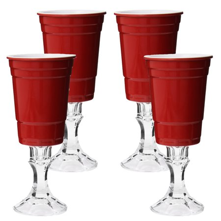 4 Rednek Funny 16oz Party Cups Carson Home Accents Wine Glasses Redneck Drinkware Novelty by