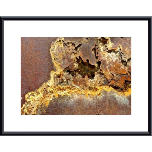 Printfinders Rusted Metal Abstract by John K. Nakata Framed Photographic Print