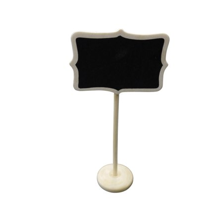 Quasimoon Large Rectangular Standing Wedding Chalkboard Sign Table Number Holder by PaperLanternStore (Wedding Table Number Holder)