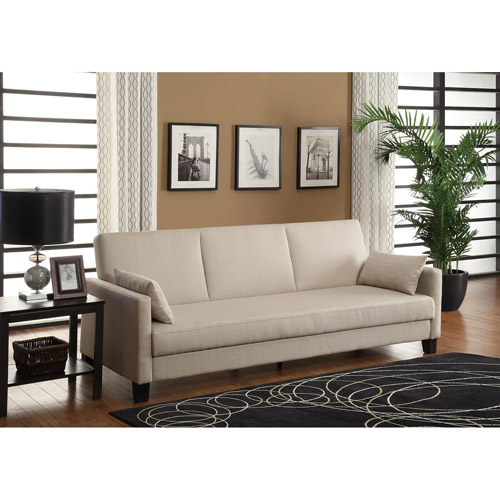 DHP Vienna Sofa Sleeper with 2 Pillows, Multiple Colors