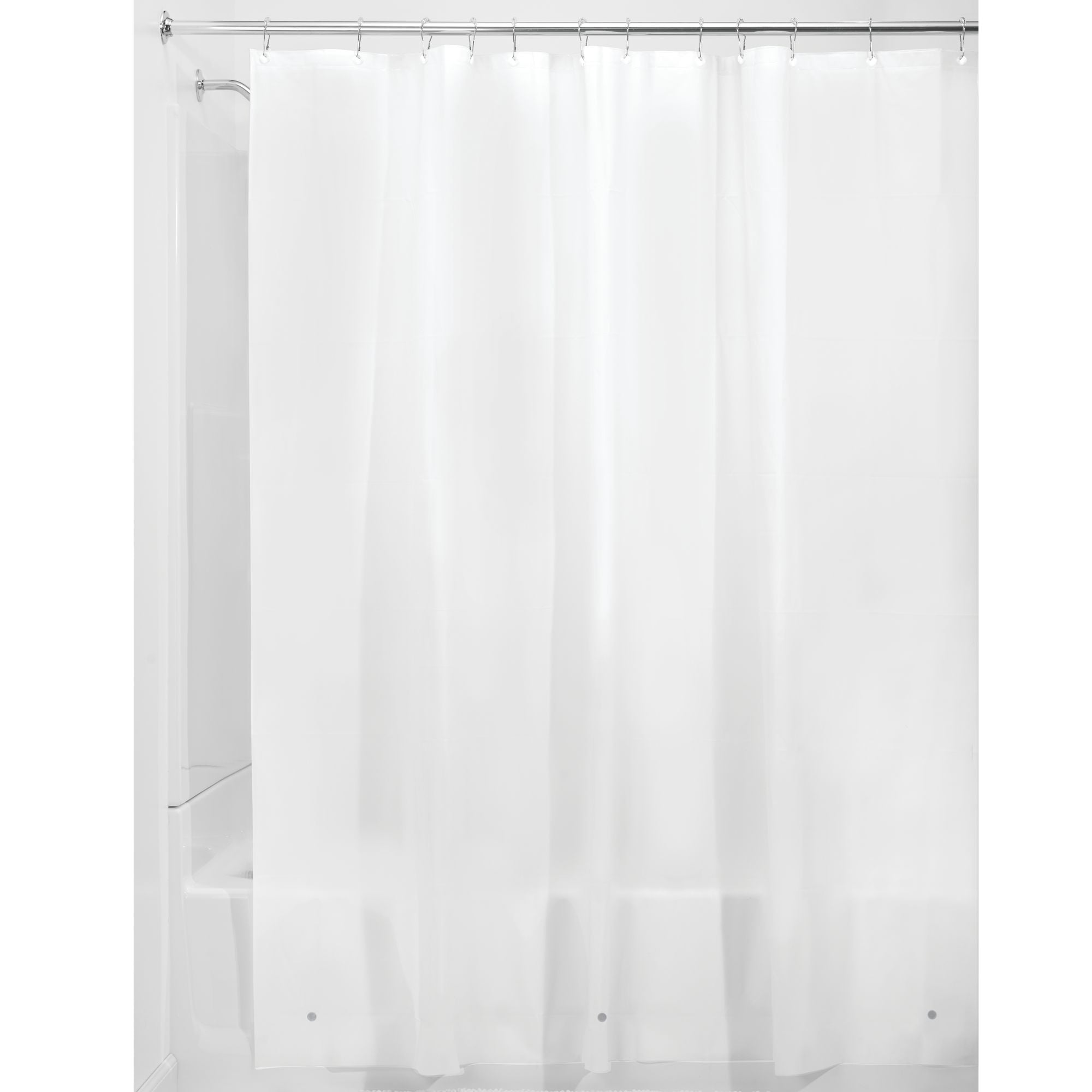 """Clear Mildew Resistant Midweight PEVA Shower Curtain Liner 70/"""" x 72/"""", 5 G"""
