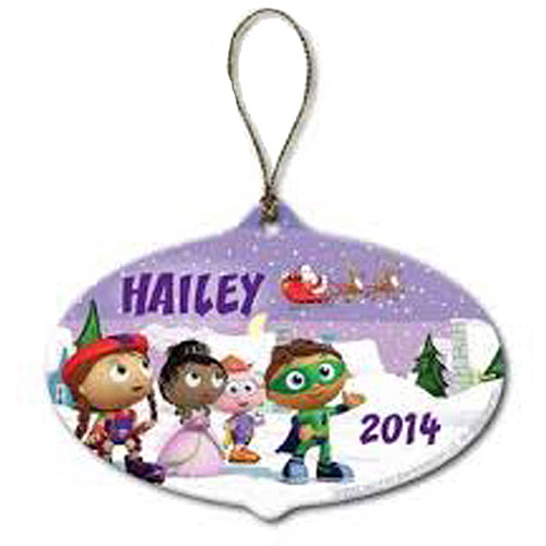 Personalized Super Why! Farewell to Santa Christmas Ornament