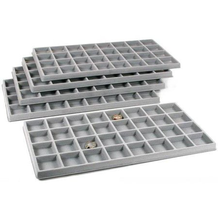 5 Gray 32 Slot Coin Jewelry Showcase Display Tray Inserts