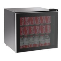 RCA 70-Can or 17-Bottle Adjustable Beverage Center with Silver Trim RMIS104, Black