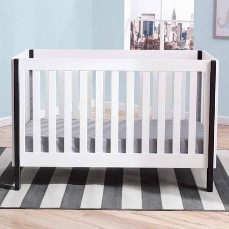 Delta Children Bellevue 3-in-1 Convertible Fixed-Side Crib, Bianca