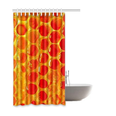 BOSDECO Bee Waterproof Polyester Bathroom Shower Curtain 60x72 Inches - image 1 de 2