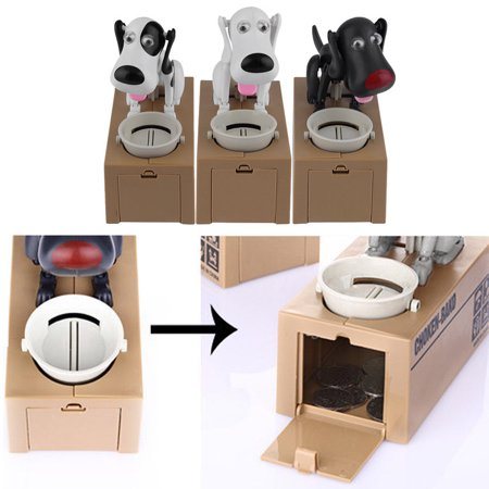 Robotic Dog Money Box Automatic Stole Coin Piggy Bank Money Saving Box