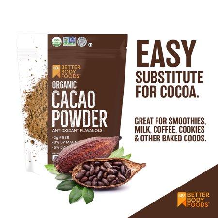 BetterBody Foods Organic Cacao Powder, 1.0 Lb (16 oz)