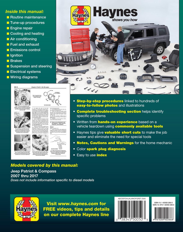 jeep repair diagrams jeep patriot   compass  2007 thru 2017 haynes repair manual all  haynes repair manual