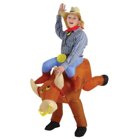 Bull Costume For Kids (Morris Costumes SS22009G Bull Rider Kids Inflatable)