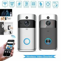 Smart Video Wireless WiFi Doorbell IR Visual Camera Record Security System Bell