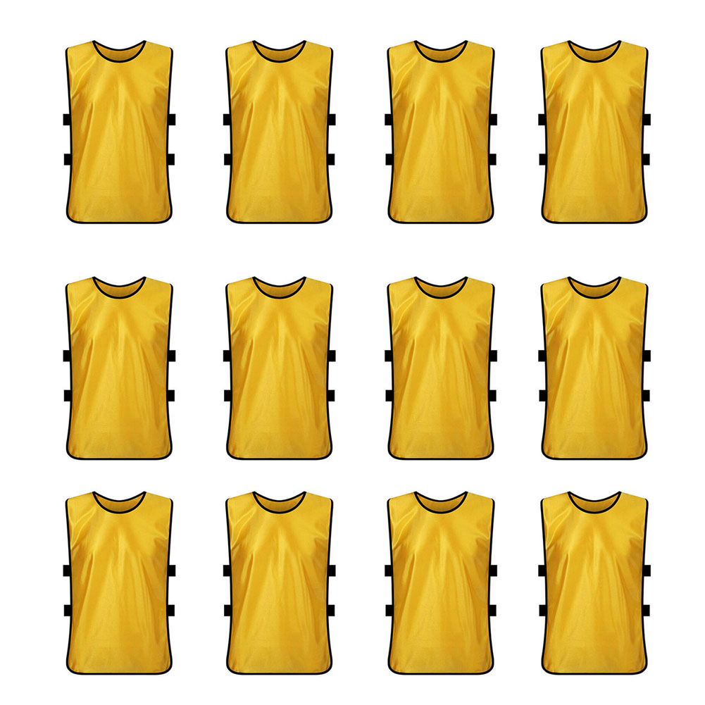 TopTie Training Vests Soccer Bibs Set of 12, Pinnies-Yell...