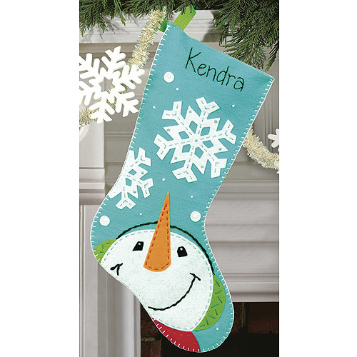 Dimensions Felt Applique Kit, Catching Snow flakes Stocking