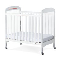 Foundations Next Gen Serenity Clearview Compact Portable Mini Crib with Mattress, White