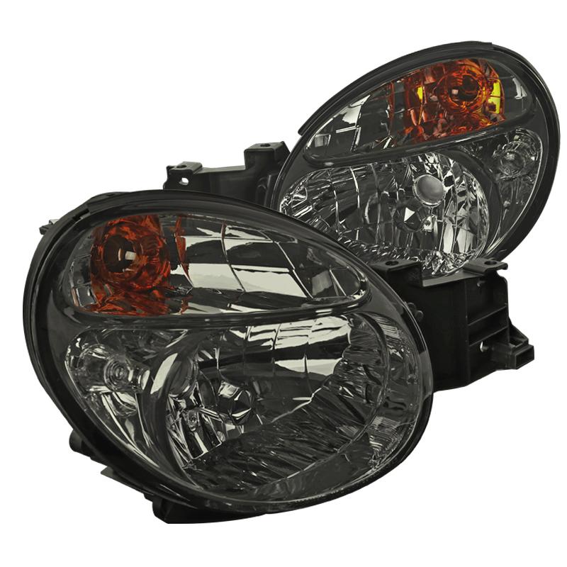 Spec-D Tuning 2002-2003 Subaru Impreza Wrx/Outback Smoke Lens Headlights (Left + Right) Pair 02 03