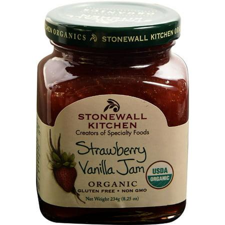 Stonewall Kitchen Organic Gourmet Jam Strawberry Vanilla -- 8.25 oz pack of