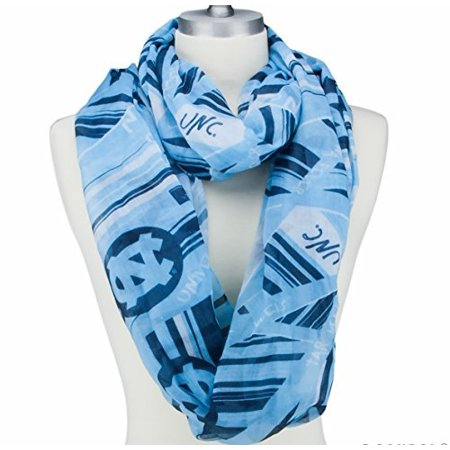 North Carolina Infinity Scarf Emblazoned with Designs, Logos and Colors - Carolina Panthers Scarf