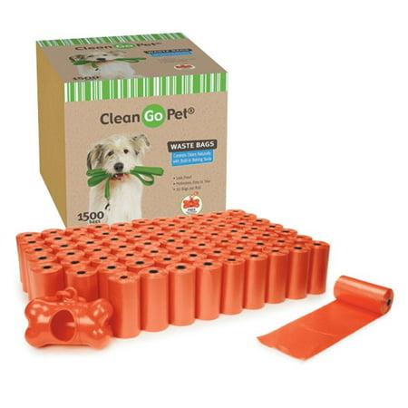 Clean Go Pet Waste Bag Super Ct 75 Pieces Orange
