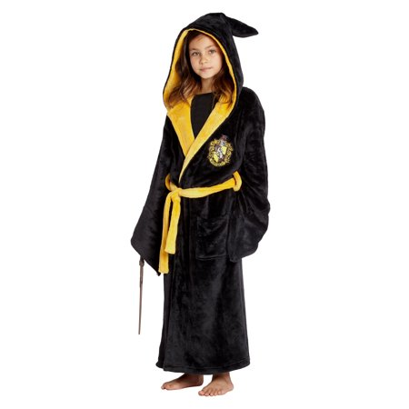 Harry Potter Costume Kids Plush Robe Hogwarts Houses Gryffindor, Ravenclaw, Hufflepuff, Slytherin - Harry Potter Slytherin Robe