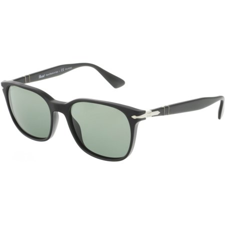 Persol Men's Polarized PO3164S-900058-56 Black Wayfarer Sunglasses