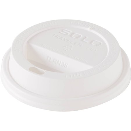 Solo Cup Company White Traveler Dome Hot Cup Lids For 8 Oz  Cups  100 Count   Pack Of 10