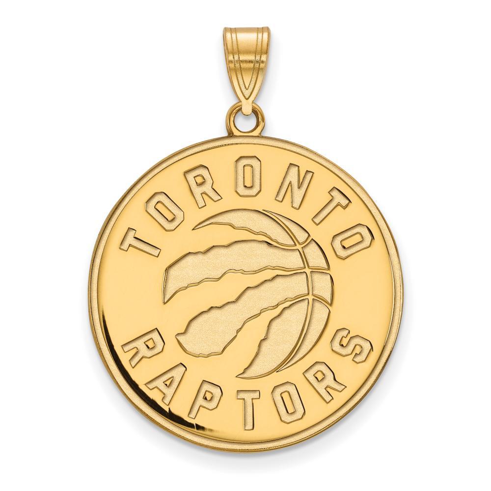 Toronto Raptors Extra Large (1 Inch) Pendant (10k Yellow Gold)