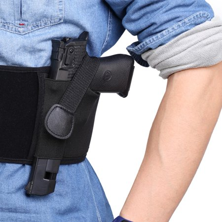 Belly Band Holster 2 Sizes Black Waterproof Neoprene Draw Belly Band Concealed Carry Pistol Holster (#1 or (Best Pistol For A Woman To Carry Concealed)