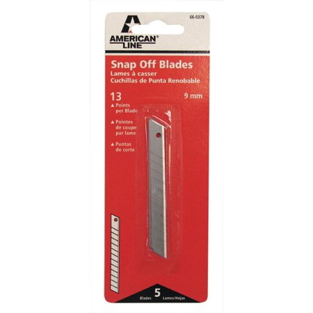American Safety Razor 66-0378 Utility Knife Blades, Snap Off