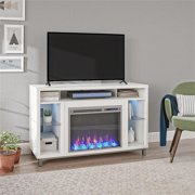 "Ameriwood Home Lumina Fireplace TV Stand up to 48"" in White"