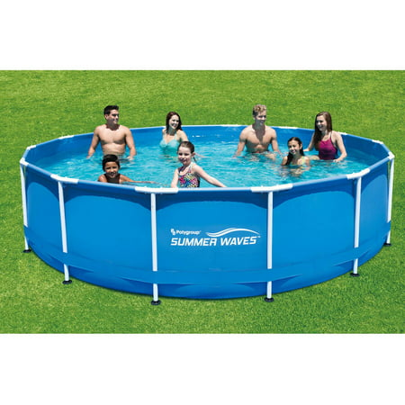 Summer waves 15 39 x 48 round metal frame above ground - Summer waves pool ...