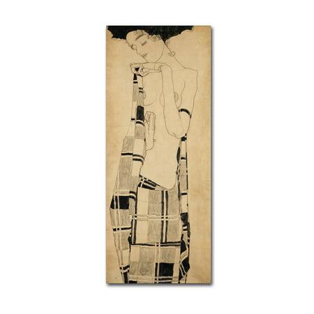 Egon Schiele Artwork - Trademark Fine Art 'Girl Standing' Canvas Art by Egon Schiele