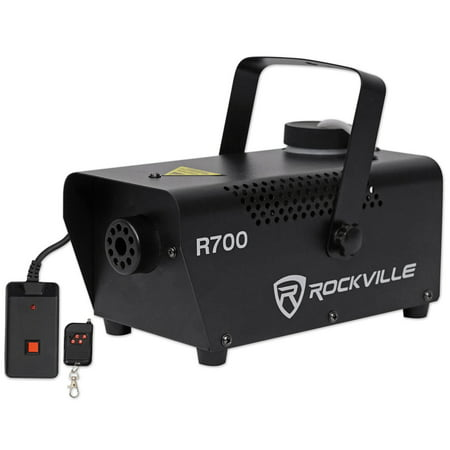 Rockville R700 Fog/Smoke Machine w/ Remote Quick Heatup; Thick (Fog Machines)