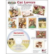 ScrapSMART Cat Lovers Cards and Envelopes CD-ROM